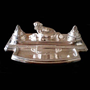 5688A Fabulous Silver Plated WMF Dog Inkwell