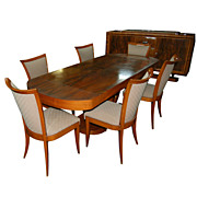 5736 Beautiful 8-Piece Art Deco Dining Set c. 1930