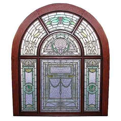 5751 Beautiful Stained Glass Landing Window
