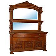 5759 Monumental 19th C. American Quartersawn Oak Sideboard