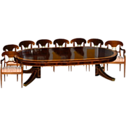 5780 9-Piece Empire Dining Set circa 1910