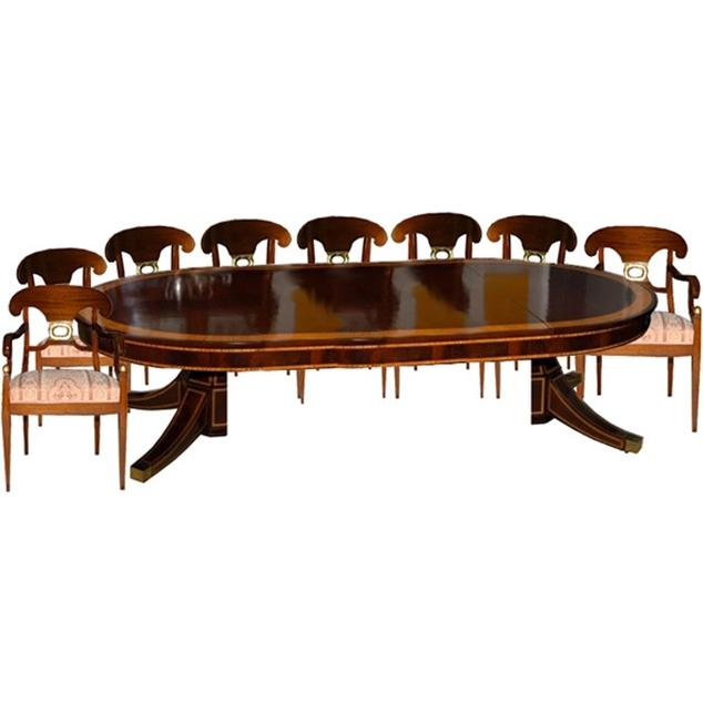 5780 9-Piece Empire Dining Set circa 1910