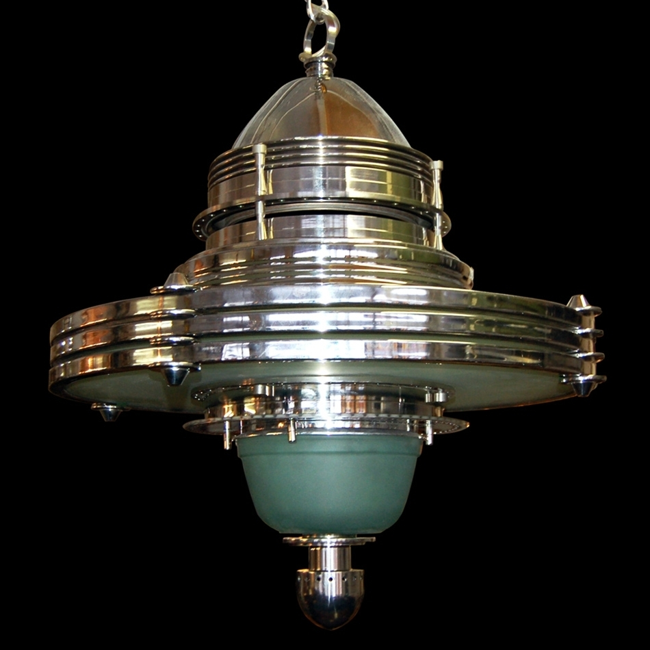 5801 Fabulous Art Deco/Machine Age Hanging Lighting Fixture