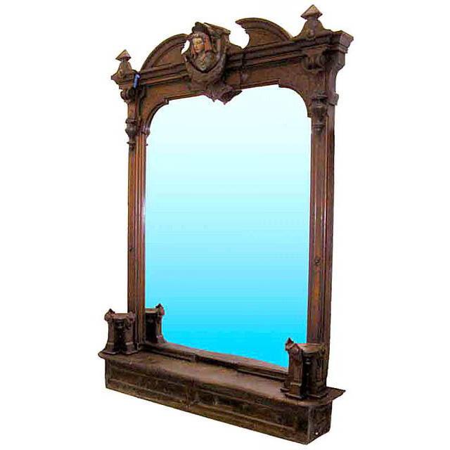 5808 Monumental 19th C. American Renaissance Revival Pier Mirror.