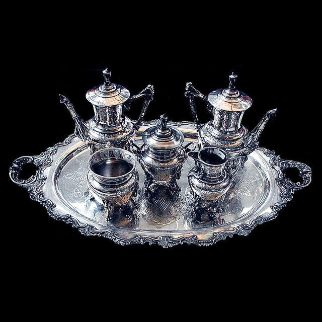 5809 American Eastlake 6-Piece Silverplated Tea Set c. 1885