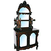 5847 Beautiful Antique Rosewood Etagere Signed E.W. Hutchings N.Y.