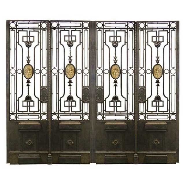 5904 Stunning Quadruple Panel Iron Gate