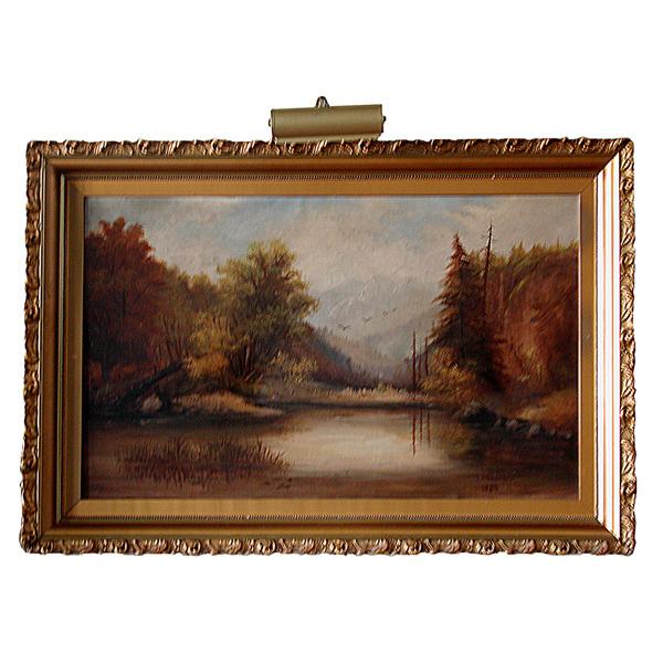 5938 Early 20th C. Oil on Canvas Signed R.S. Gilbraith