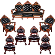 5942 7-Pc. American Renaissance Parlor Set by Herter Brothers