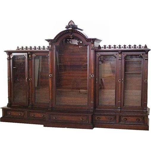 5954 American Victorian 5-Door Bookcase c. 1890