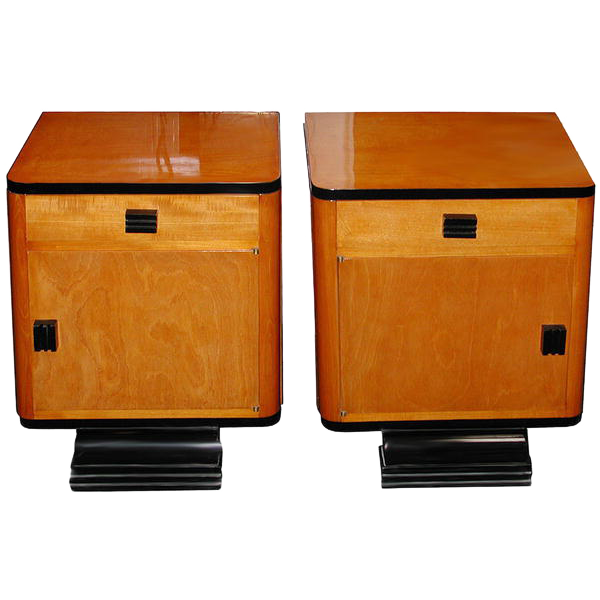 53.5986 Pair of Art Deco Nightstands c. 1920