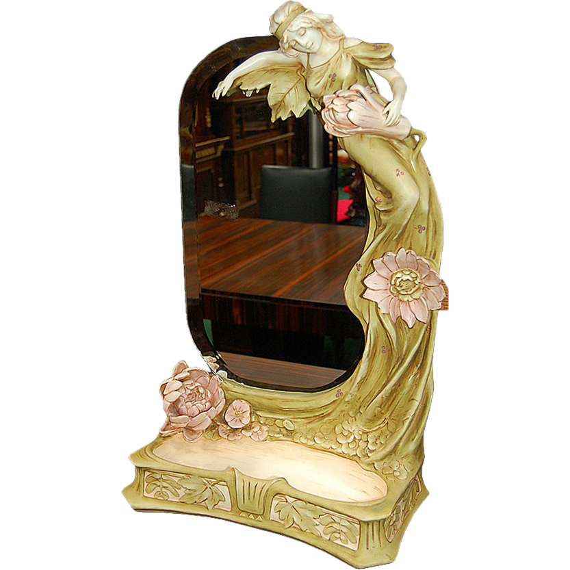 5999 Art Nouveau Mirror with Figural Lady