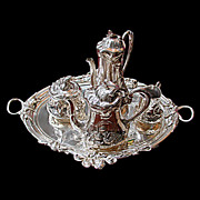 6049 Beautiful Silver Plate Art Nouveau Tea Set by WMF