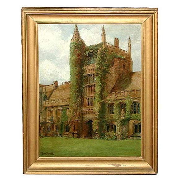 6084 Original 19th C. Framed Oil on Canvas Painting