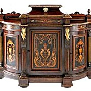 6103 Antique American Renaissance Revival Rosewood Credenza by Pottier & Stymus