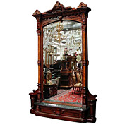 6107 Antique American Walnut Hall Piece by Herter Brothers