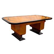 6113 American Art Deco Table or Desk with Leaves