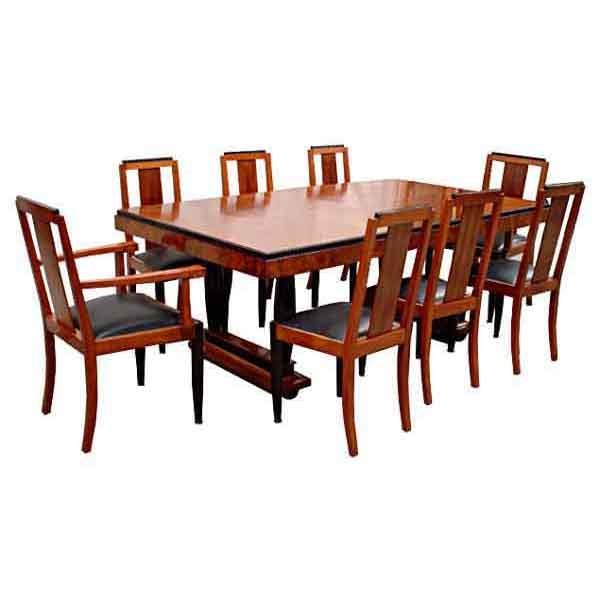 6116 9-Piece Art Deco Dining Set with Beautiful Veneers c.1930