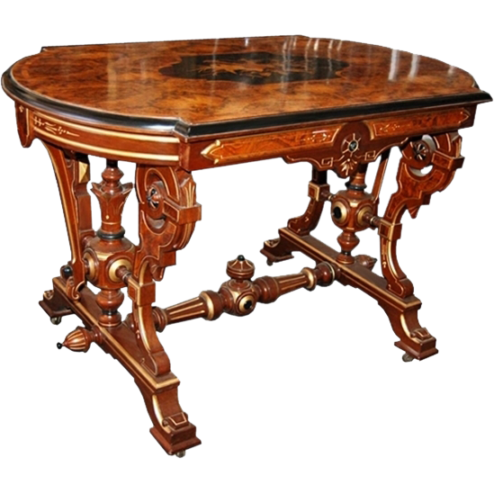 6118 19th C. Inlaid Table