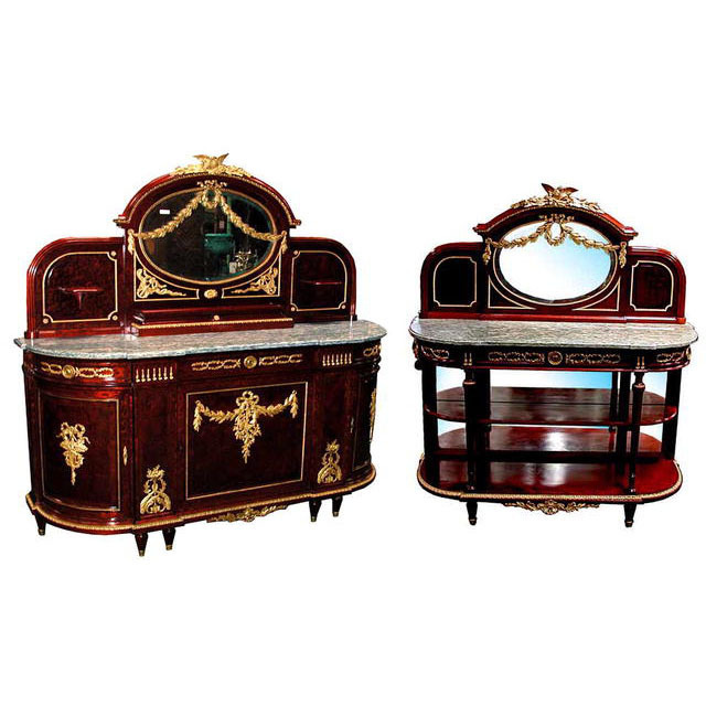 6131 19th C. Empire Sideboard & Server