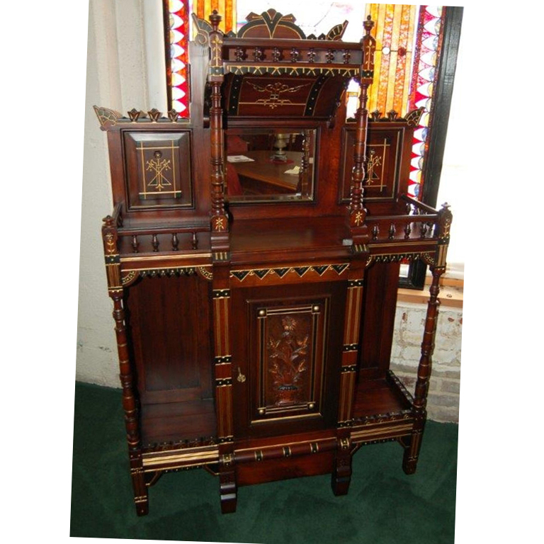 6152 Antique Cabinet, Aesthetic Movement c 1880