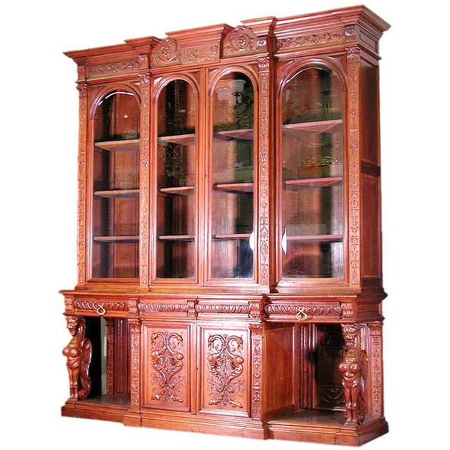 6197 RJ Horner Bookcase, c 1870