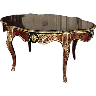 6203 19th C. French Inlaid Boulle Table