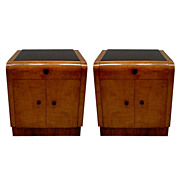 6253 Pair of Art Deco Nightstands c. 1920