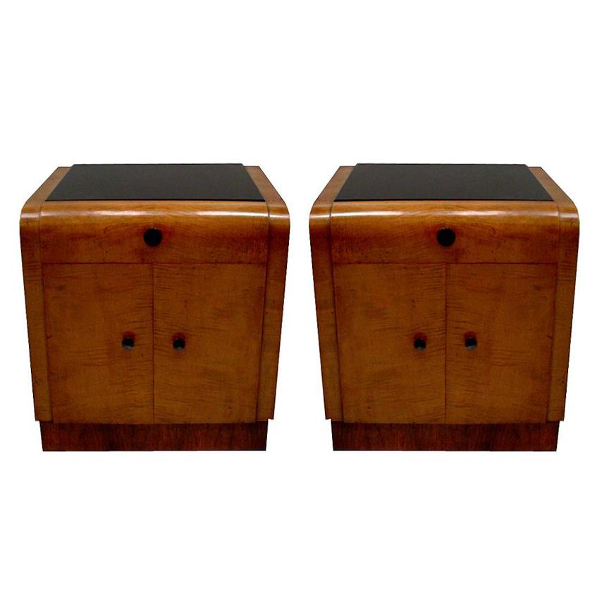 6253 Pair of Art Deco Nightstands c. 1920