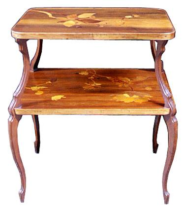 6265 Two-Tier Inlaid Art Nouveau Table