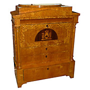 6276 Rare Biedermeier Style Antique Secretary Desk