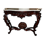 6335 American Rococo Rosewood Marble Top Pier Table