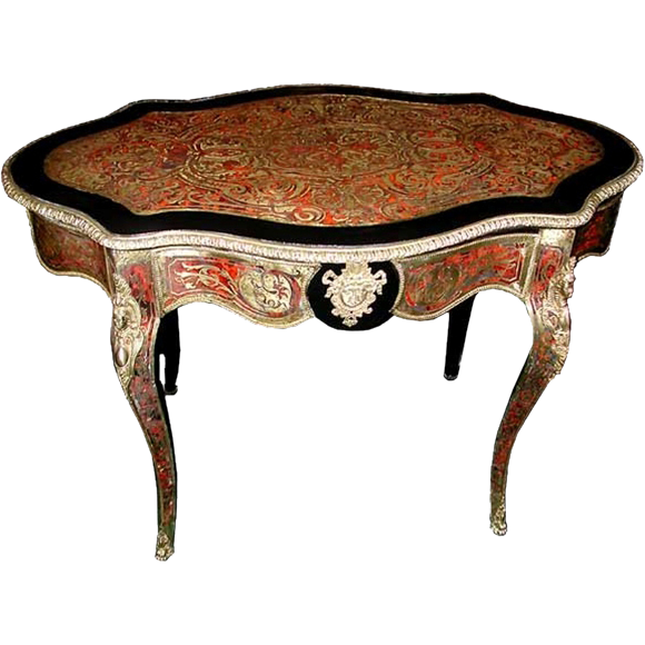 6402 19th C. French Inlaid Boulle Table