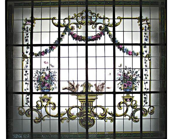 6407 Hand Painted & Leaded Glass Window