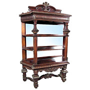 6411 American Victorian Rosewood Antique Etegere of the Highest Quality