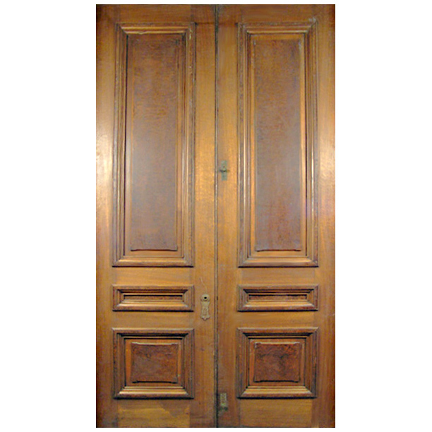6416 Victorian Grand Scale Walnut Door with Raised Burl Panels