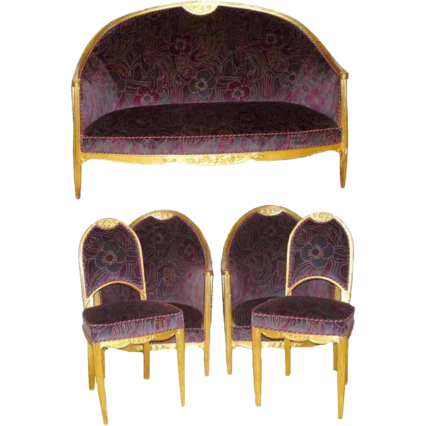 6442 French Art Deco Parlour Set c.1920
