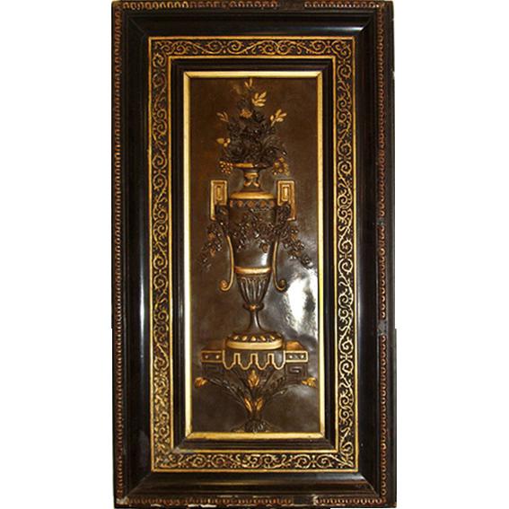 6443 19th C. Herter Brothers, New York Bronze Plaque