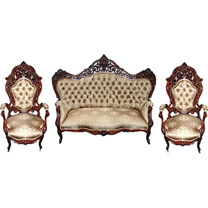 6507 3-Piece Rococo Parlor Set by J.W. Meeks