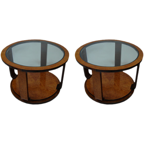 20.6528 Fabulous Pair of Art Deco Side Tables