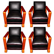 6532 Set of Four Matching Art Deco Chairs c. 1920