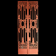 6579 Pair of Beaux Arts Style Cast Iron Entrance Gates c. 1890