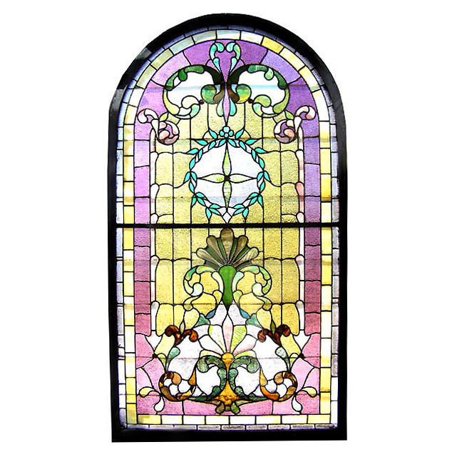 6581 Victorian Landing Window with Arched Top c. 1890