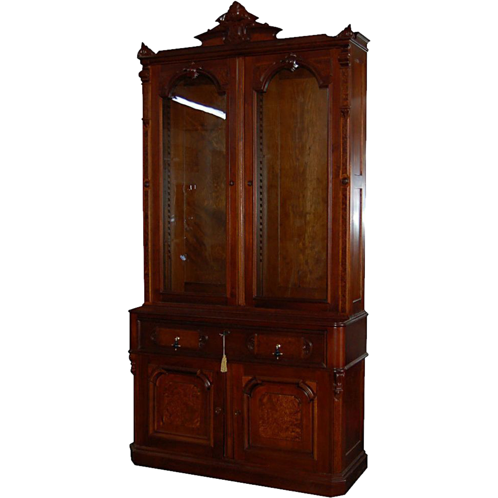 6597 19th C. American Bookcase-Secretary Desk