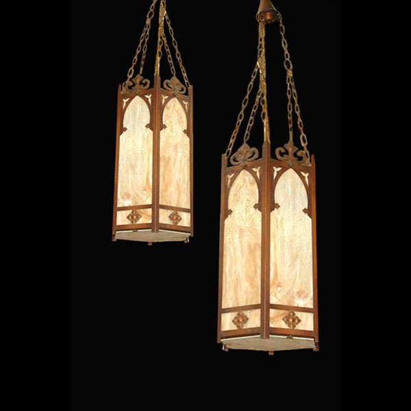 660 Contemporary American Victorian/Neo-Gothic Style Hanging Lanterns.