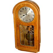 6629 Walnut & Burl Antique Wall Clock