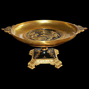 6648 French Bronze Round Empire Coupe Dish c.1890