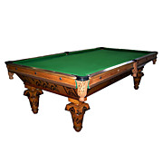 "6707 Inlaid ""Brilliant Novelty"" Pool Table by Brunswick"