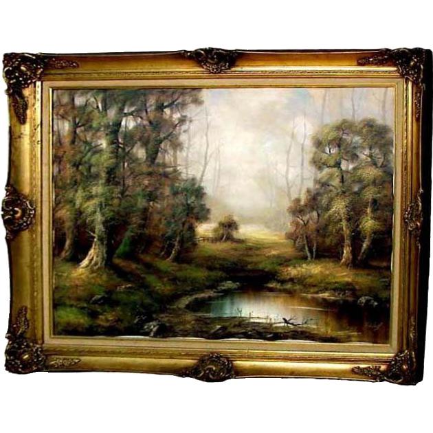 6743 20th C. Oil on Canvas Landscape