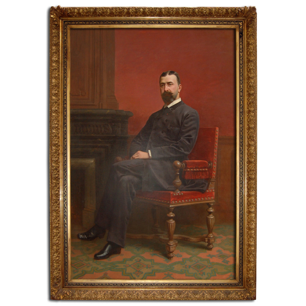 6773 Life-Sized Portrait of Distinguished Gentleman in Gilt Frame